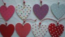 Shabby Chic Wooden Heart Hanging Decoration Xmas Door
