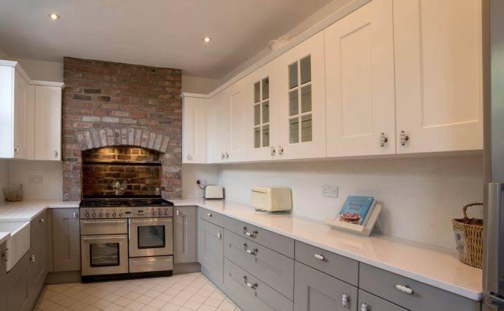 Shaker Kitchen White Grey Panorama Kitchens