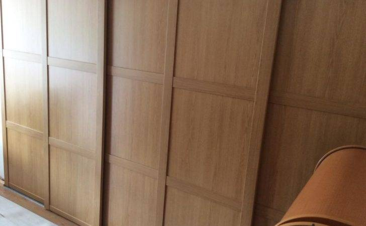 Shaker Oak Effect Sliding Wardrobe Doors Track