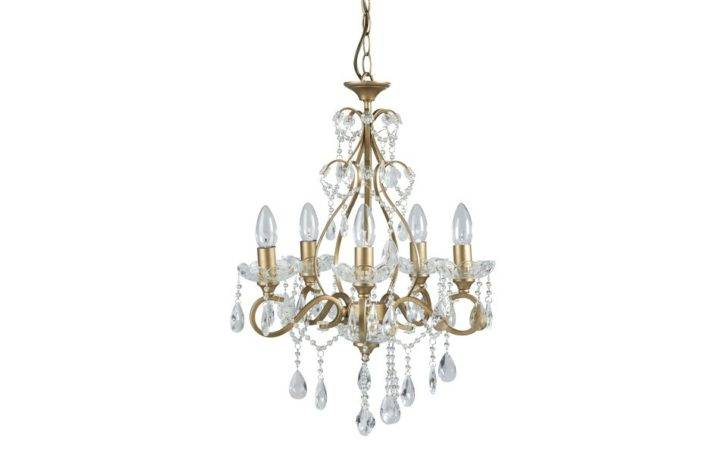 Shamley Gold Compact Arm Ceiling Chandelier Laura Ashley