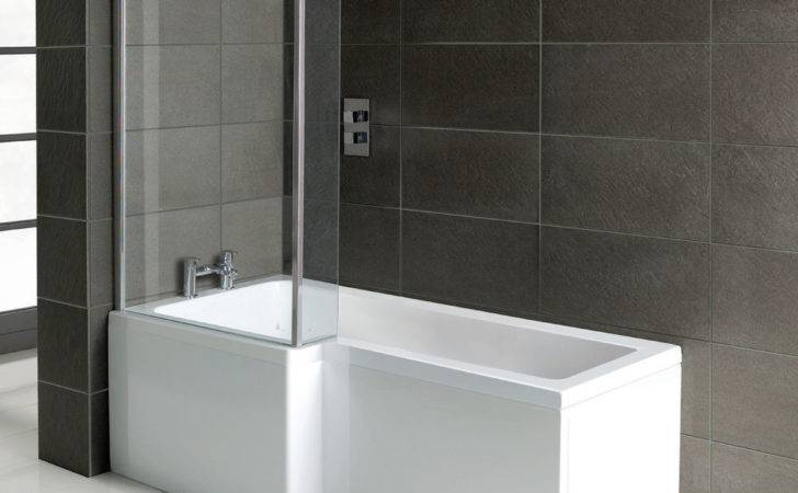 Shape Square Shower Bath Panels Hinged Screen