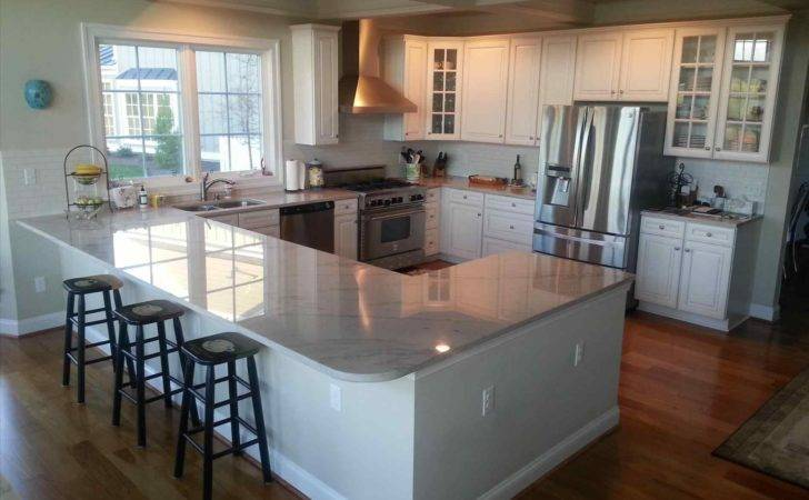 Shaped Kitchen Diner Island Deductour