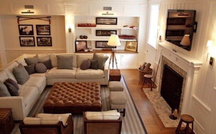 Shaped Living Room Furniture Placement Photos