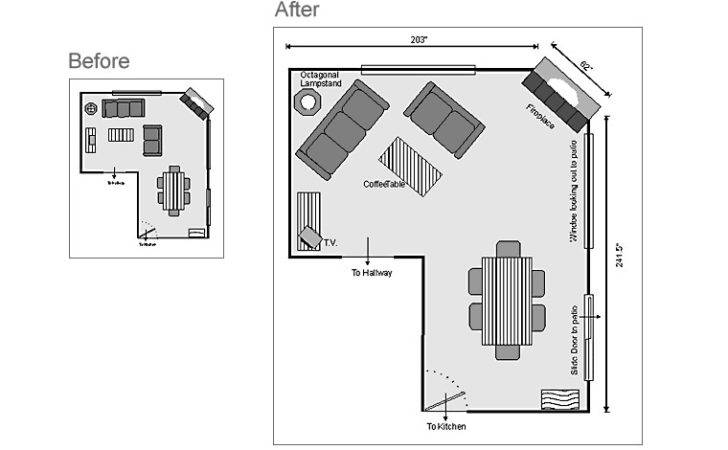 Shaped Living Room Layout