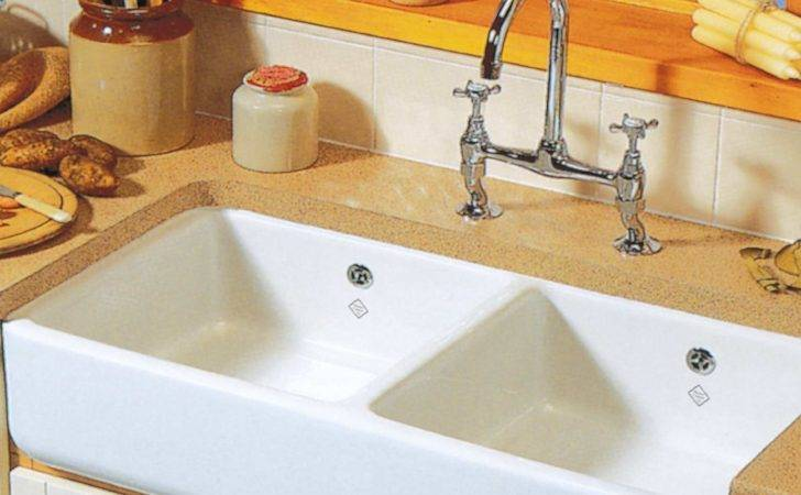Shaws Classic Double Ceramic Sink Kitchen Sinks Taps