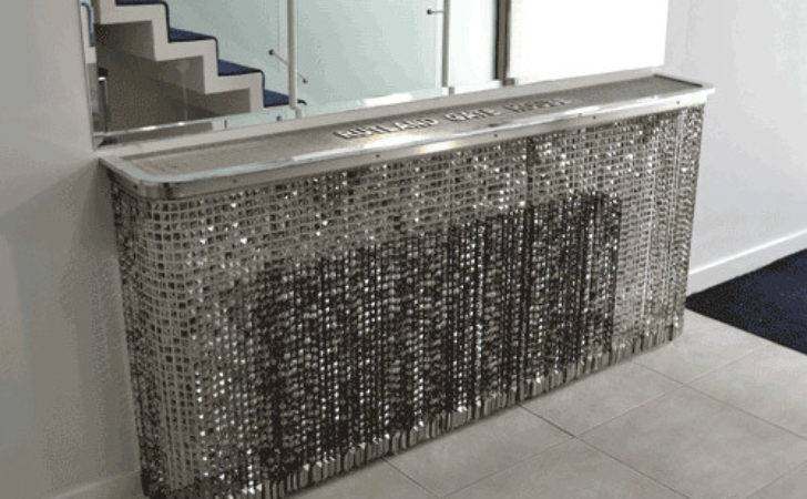 Shimmering Crystal Radiator Covers Console Tables
