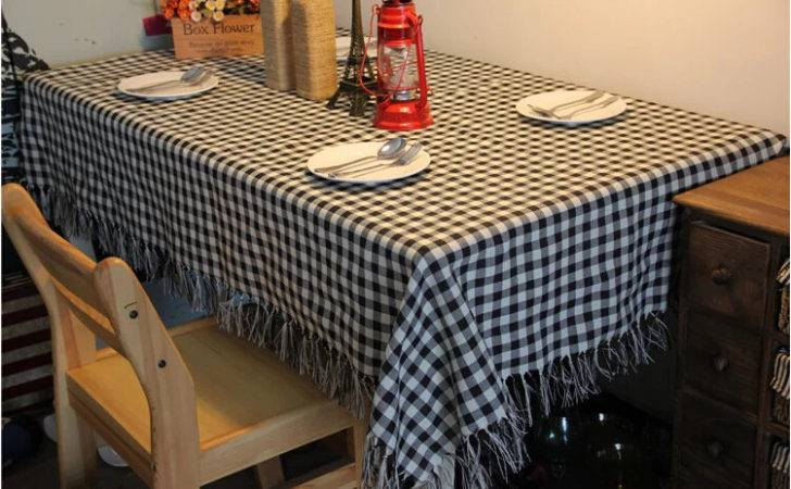 Shipping Zakka Country Style Check Design Table Cloth