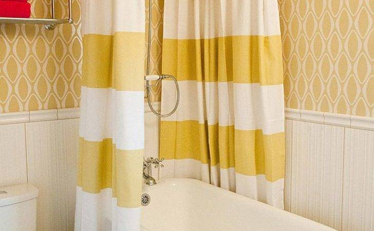 Shower Curtains Bring Yellow Small