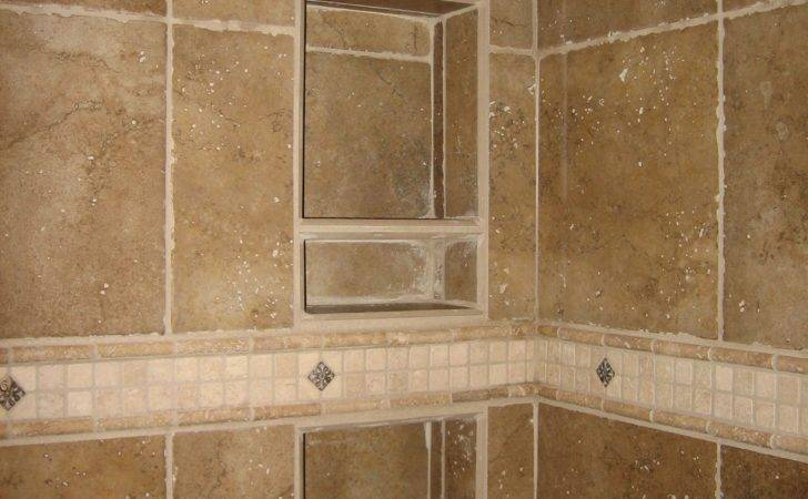 Shower Recessed Tiled Shelving Specialty Band