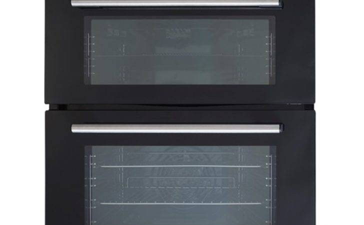 Sia Built Under Electric Double Oven Black Gas Hob