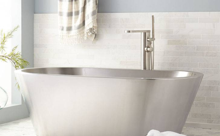 Signature Hardware Collette Stainless Steel Freestanding