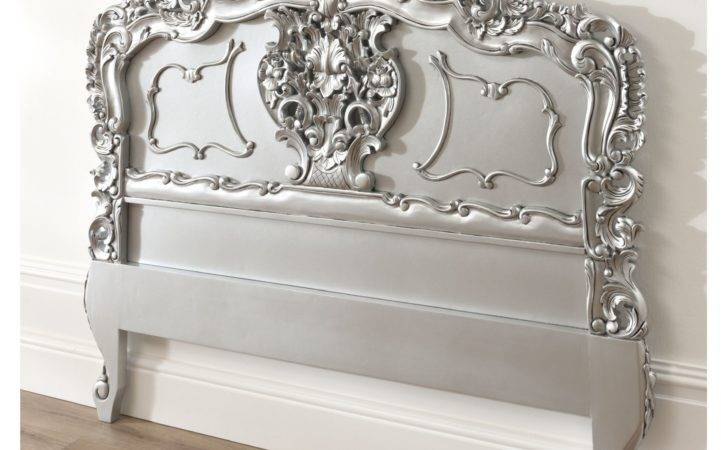 Silver Rococo Antique French Headboard Available Now