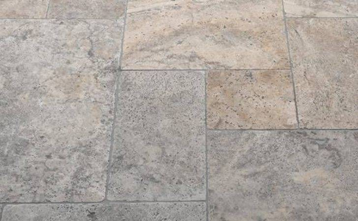 Silver Travertine Tiles Tumbled Stone Superstore