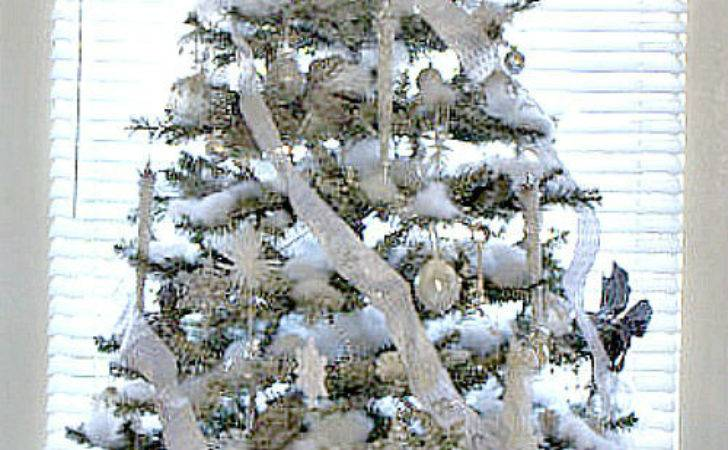 Silver White Christmas Tree