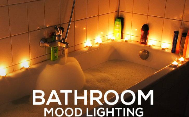 Simple Easy Bathroom Mood Lighting Ideas