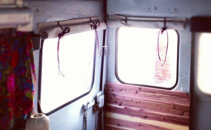 Simple Inexpensive Roll Bus Curtains Range Quest