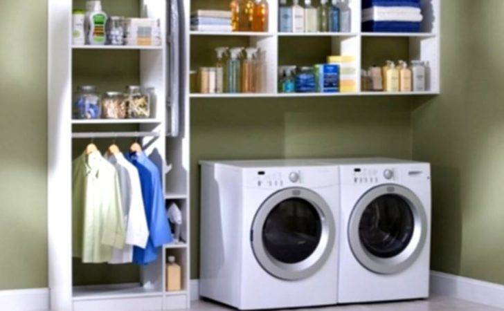 Simple Laundry Room Storage Solutions Small Cdhoye