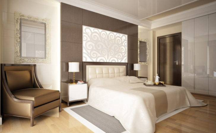 Simple Master Bedroom Ideas White Brown Wall Twipik