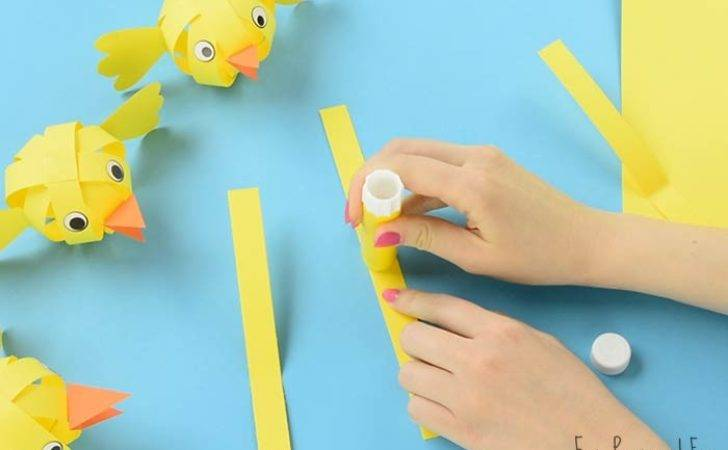 Simple Paper Chick Craft Easter Ideas Easy Peasy