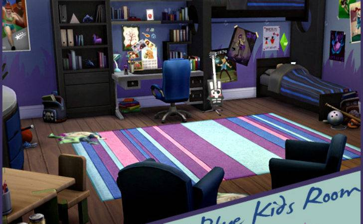 Sims Cool Blue Kids Room