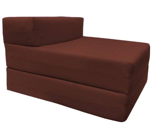 Single Fold Out Block Foam Bed Sofabed Guest Chair