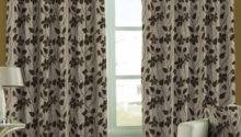Skipper Coffee Brown Floral Window Curtain
