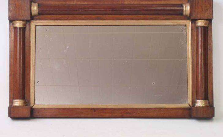 Small Antique Regency Rosewood Overmantle Mirror Hall