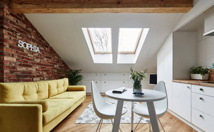 Small Attic Apartment Only Sqm Adorable Home