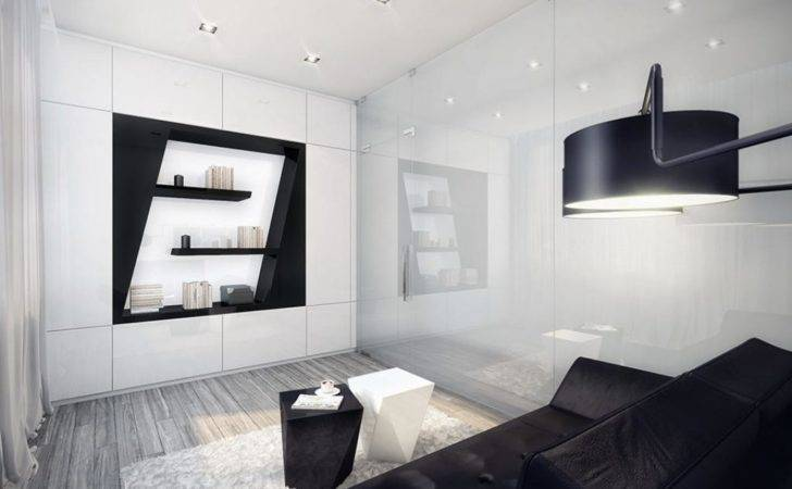 Small Black White Apartment Living Room Design Home