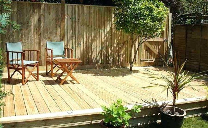 Small Garden Decking Ideas Railway Sleepers