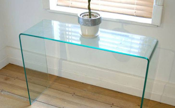 Small Hall Glass Console Table