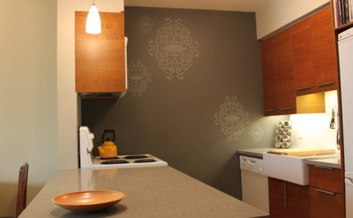 Small Kitchen Design Feature Wall Concept