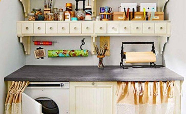 Small Kitchen Laundry Room Storage Solutions