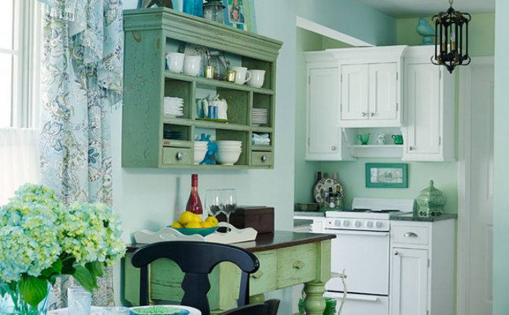 Small Lake Cottage Turquoise Interiors Home Bunch