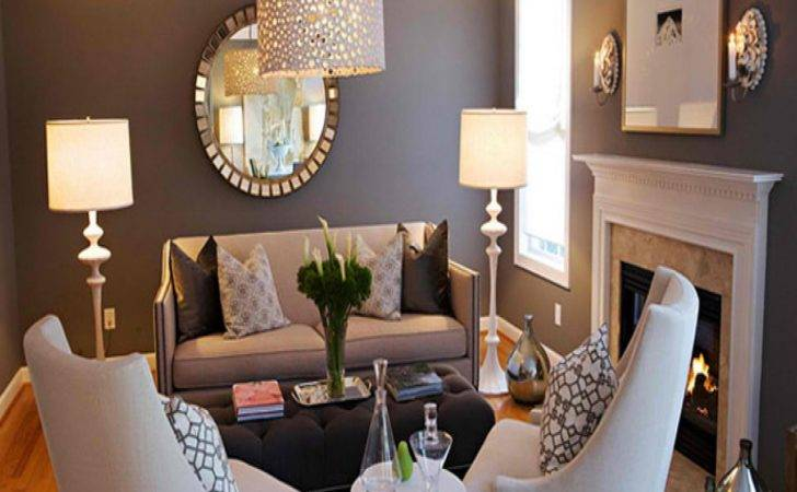Small Sitting Rooms Dark Gray Accent Wall Grey