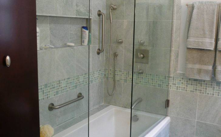 Small Tub Shower Combo Bathroom Contemporary Marble