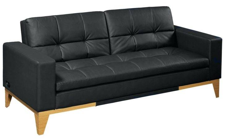 Sofa Bed Black Faux Leather Friday Deals Sale