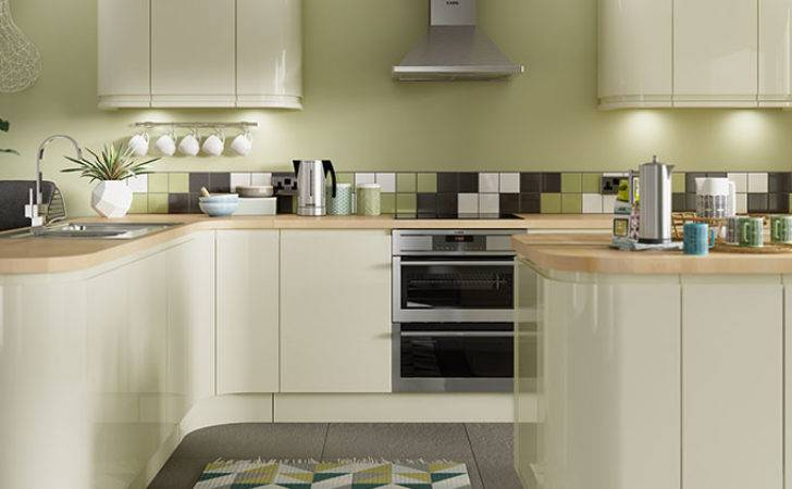 Sofia Cream Gloss Kitchen Wickes