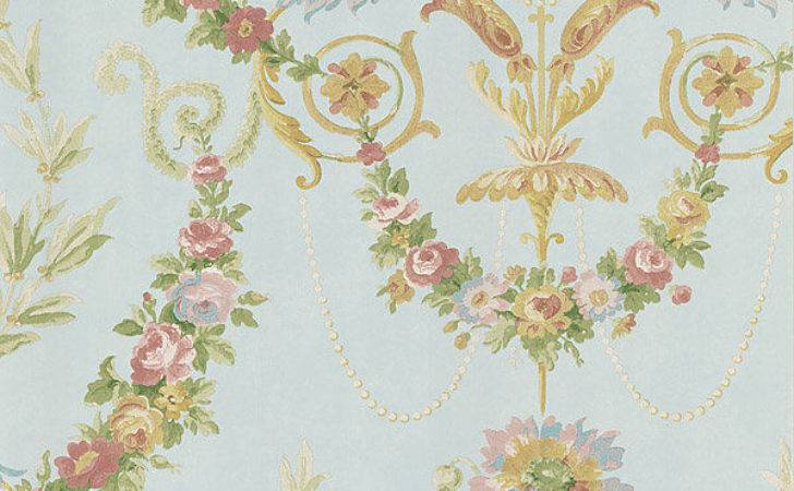 Soft Soothing Victorian Floral Double Roll