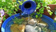 Solar Powered Small Water Feature British Garden
