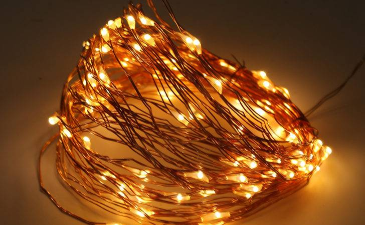 Solar Powered Warm White Led Copper Wire Outdoor