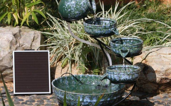 Solar Powered Water Features Fountains Feature