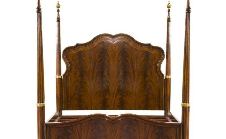 Solid Mahogany French Four Poster Pencil Bed
