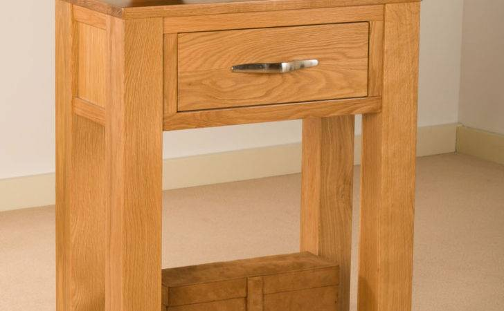 Solid Oak Small Telephone Lamp Hall Console Table Unit Ebay