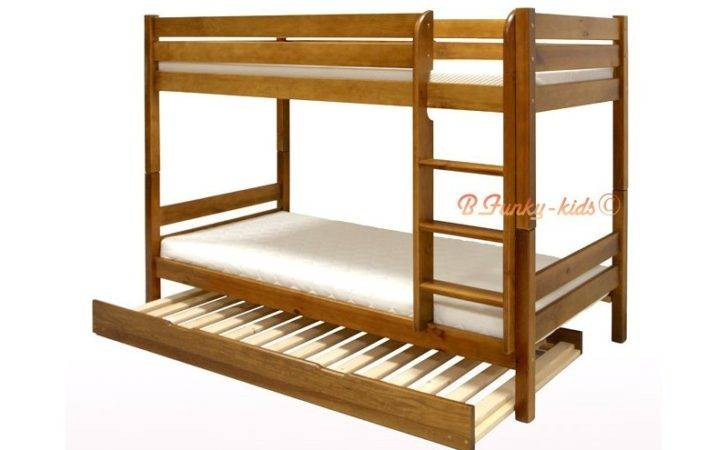 Solid Pine Wood Roll Out Bunk Bed Casper Persons