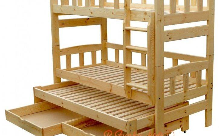 Solid Pine Wood Roll Out Bunk Bed Nicolas Persons