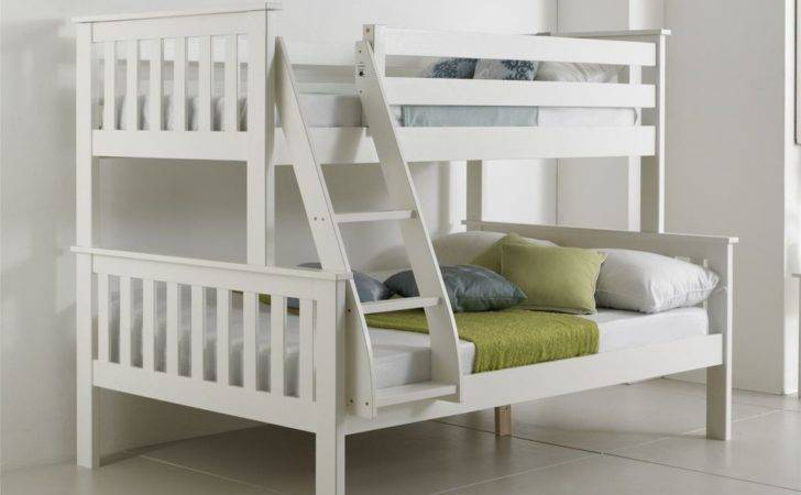 Solid Pinewood White Triple Sleeper Bunk Bed