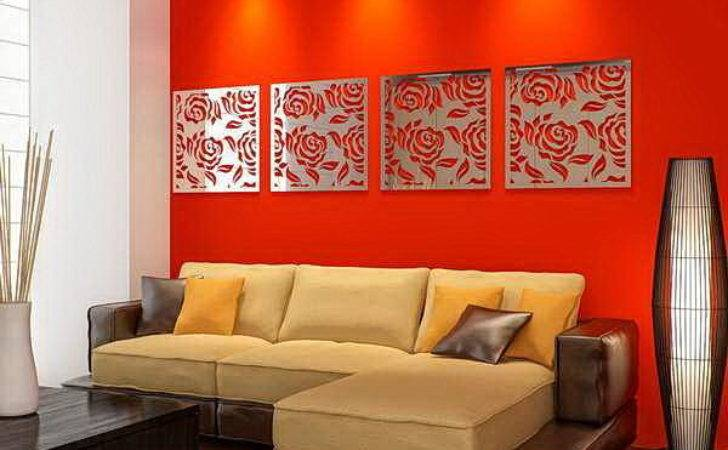 Some Living Room Wall Decor Mirrors Ideas