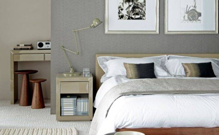 Sophisticated Grey Bedroom Simple Design