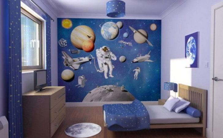 Space Theme Wall Decor Kids Bedroom Decoist